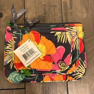 Trio of Floral Cosmetic bags or travel bags